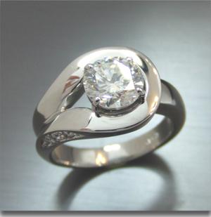【実例349】1カラットダイヤモンドリングのリフォーム