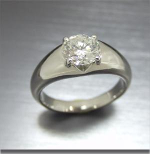 【実例333】一粒ダイヤリングをボリューム感のあるリングにリフォーム