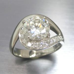 【実例330】1.5カラットのダイヤ立て爪リングをシンプルにリフォーム