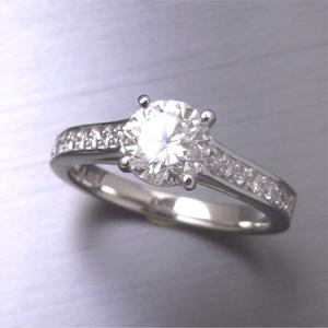 【実例313】昔の婚約指輪をハーフエタニティのゴージャスなリングにリフォーム
