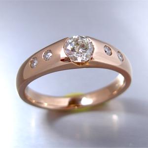 【実例312】昔の婚約指輪をピンクゴールドの指輪にリフォーム