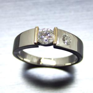 【実例301】昔の婚約指輪を流行りのリングにリフォーム