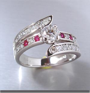 【実例369】昔の婚約指輪に誕生石ルビーをセット