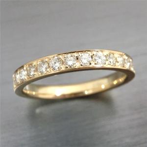 【実例291】お母様のダイヤモンドリングをゴールドのハーフエタニティリングにリフォーム