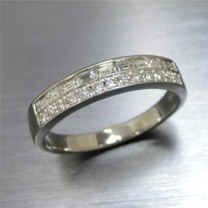 【実例288】V字ダイヤモンドリングを重ねづけに使えるプレーンなリングに