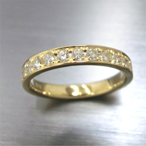【実例287】長年愛用したリングをレール留めダイヤのハーフエタニティに
