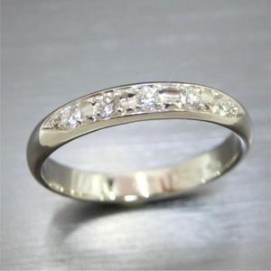 【実例149】プラチナリングにダイヤモンドを入れる