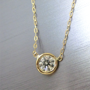 【実例275】ダイヤモンドペンダントヘッドをゴールドにセット