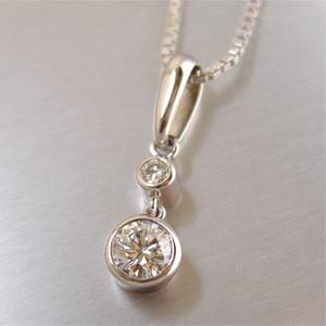 【実例268】二本のダイヤモンドリングからペンダントにリフォーム