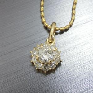 【実例266】ダイヤモンドリングのアームをカットしてペンダントにリフォーム