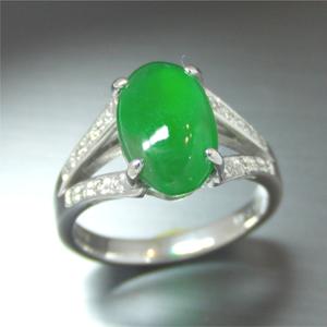 【実例252】翡翠のリングをプラチナ枠にリフォーム