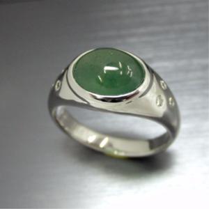 【実例249】翡翠のリングを普段使いできるデザインにリフォーム