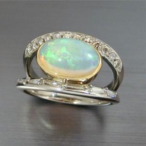 【実例246】お母様のオパールの指輪をリフォーム