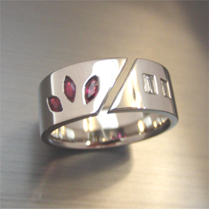 【実例243】ルビーの指輪を平打ちタイプリングにリフォーム