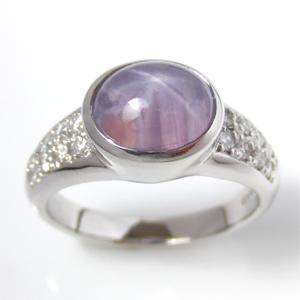 【実例242】スターサファイアの指輪を引っかかりのないデザインにリフォーム