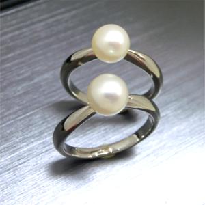 【実例233】二人のお孫さん用に真珠のリングをリフォーム