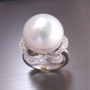 【実例232】大粒南洋真珠を豪華にリフォーム