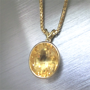 【実例205】シトリンの指輪をペンダントにリフォーム