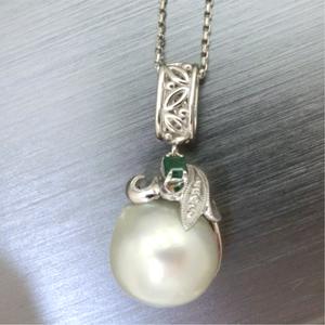 【実例215】真珠のリングをペンダントにリフォーム