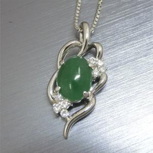 【実例195】翡翠のリングをプラチナ製ペンダントにリフォーム