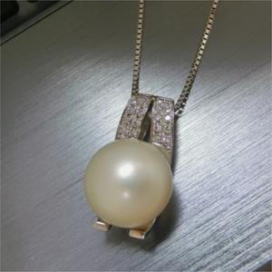 【実例173】南洋真珠の指輪をペンダントにリフォーム