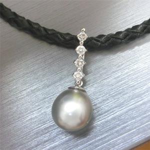 【実例172】南洋真珠のリングをペンダントにリフォーム