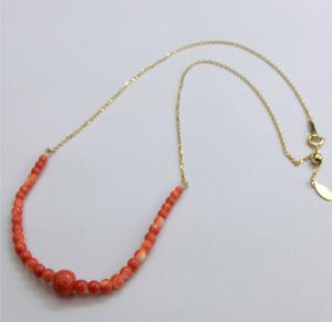 【実例40】珊瑚の帯留めをネックレスに加工