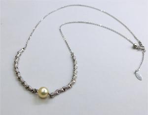 【実例39】真珠の帯留めをネックレスに加工
