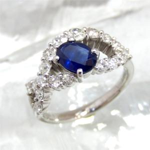 【実例26】ダイヤリングとサファイアルースからオリジナル指輪に加工