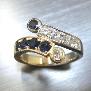 【実例5】ダイヤとサファイアをお嬢様用に加工