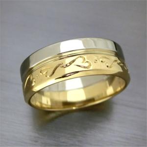 【実例4】2本の思い出のリングを一つのリングに加工